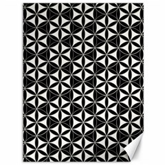Flower Of Life Pattern Black White Canvas 36  X 48   by Cveti