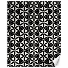 Flower Of Life Pattern Black White Canvas 11  X 14   by Cveti