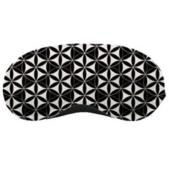 Flower Of Life Pattern Black White Sleeping Masks by Cveti