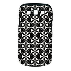 Flower Of Life Pattern Black White Samsung Galaxy S Iii Classic Hardshell Case (pc+silicone) by Cveti