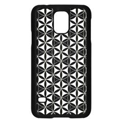 Flower Of Life Pattern Black White Samsung Galaxy S5 Case (black) by Cveti
