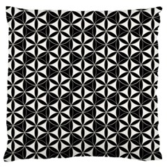 Flower Of Life Pattern Black White Standard Flano Cushion Case (one Side) by Cveti