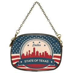 Retro Dallas Texas Skyline Chain Purses (two Sides)  by allthingseveryday