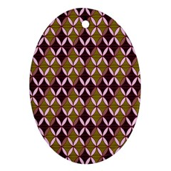 Rhomboids Pattern  Oval Ornament (two Sides) by Cveti