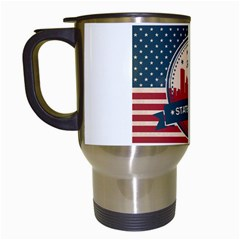 Retro Toledo Skyline Travel Mug (white) by allthingseveryday