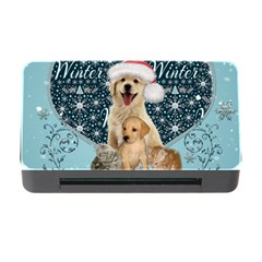 It s Winter And Christmas Time, Cute Kitten And Dogs Memory Card Reader With Cf by FantasyWorld7