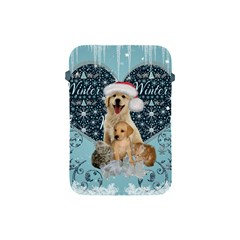 It s Winter And Christmas Time, Cute Kitten And Dogs Apple Ipad Mini Protective Soft Cases by FantasyWorld7