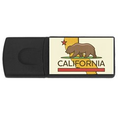 California Bear Rectangular Usb Flash Drive by allthingseveryday