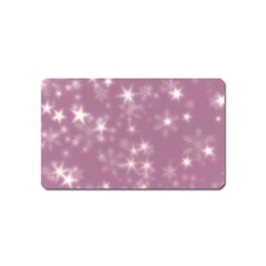 Blurry Stars Lilac Magnet (name Card) by MoreColorsinLife