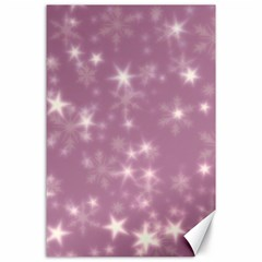 Blurry Stars Lilac Canvas 24  X 36  by MoreColorsinLife