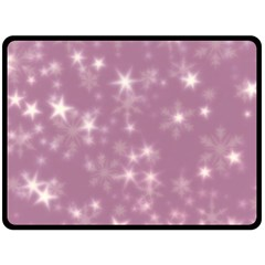 Blurry Stars Lilac Fleece Blanket (large)  by MoreColorsinLife