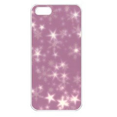 Blurry Stars Lilac Apple Iphone 5 Seamless Case (white) by MoreColorsinLife