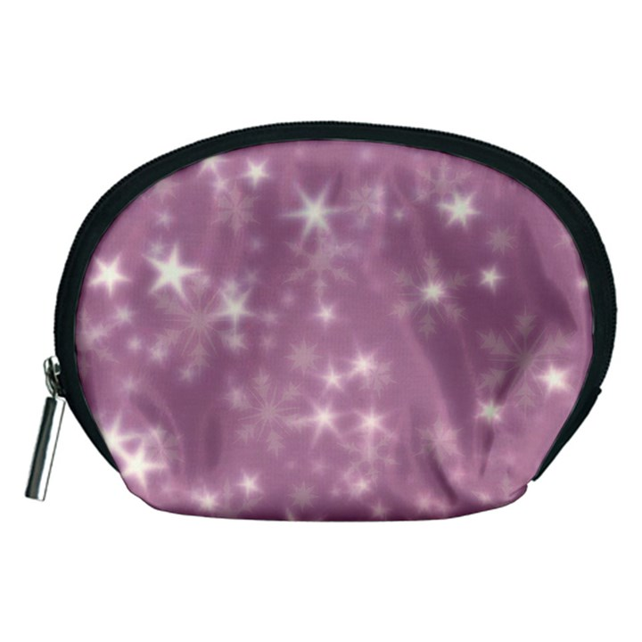 Blurry Stars Lilac Accessory Pouches (Medium)