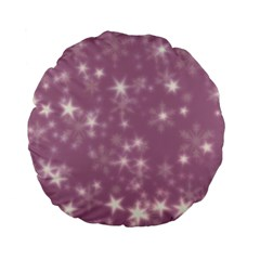 Blurry Stars Lilac Standard 15  Premium Flano Round Cushions by MoreColorsinLife