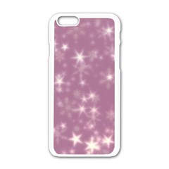 Blurry Stars Lilac Apple Iphone 6/6s White Enamel Case by MoreColorsinLife