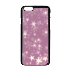 Blurry Stars Lilac Apple Iphone 6/6s Black Enamel Case by MoreColorsinLife