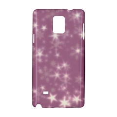 Blurry Stars Lilac Samsung Galaxy Note 4 Hardshell Case by MoreColorsinLife