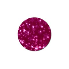 Blurry Stars Pink Golf Ball Marker (4 Pack) by MoreColorsinLife