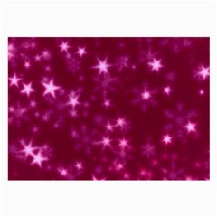 Blurry Stars Pink Large Glasses Cloth (2 Side) by MoreColorsinLife