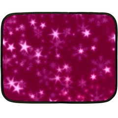 Blurry Stars Pink Fleece Blanket (mini) by MoreColorsinLife