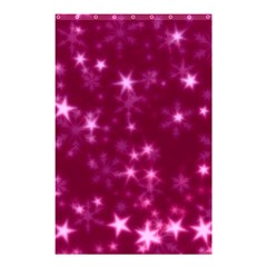 Blurry Stars Pink Shower Curtain 48  X 72  (small)  by MoreColorsinLife