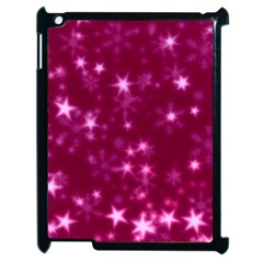 Blurry Stars Pink Apple Ipad 2 Case (black) by MoreColorsinLife