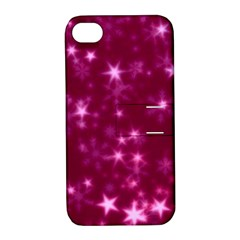 Blurry Stars Pink Apple Iphone 4/4s Hardshell Case With Stand by MoreColorsinLife