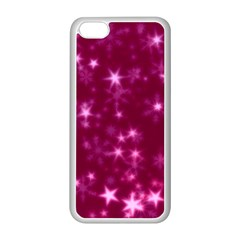 Blurry Stars Pink Apple Iphone 5c Seamless Case (white) by MoreColorsinLife