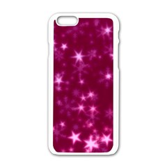 Blurry Stars Pink Apple Iphone 6/6s White Enamel Case by MoreColorsinLife
