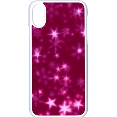 Blurry Stars Pink Apple Iphone X Seamless Case (white) by MoreColorsinLife