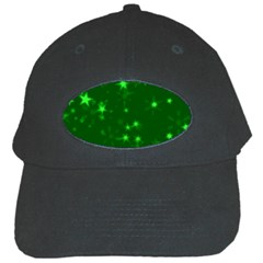 Blurry Stars Green Black Cap by MoreColorsinLife