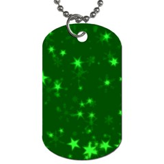 Blurry Stars Green Dog Tag (one Side) by MoreColorsinLife