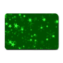 Blurry Stars Green Small Doormat  by MoreColorsinLife