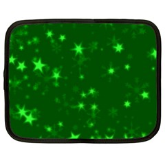 Blurry Stars Green Netbook Case (xxl)  by MoreColorsinLife