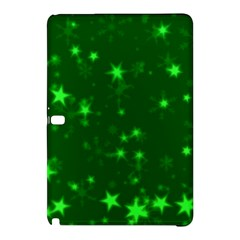 Blurry Stars Green Samsung Galaxy Tab Pro 12 2 Hardshell Case by MoreColorsinLife
