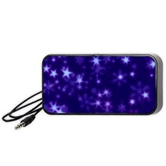 Blurry Stars Blue Portable Speaker by MoreColorsinLife