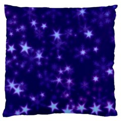 Blurry Stars Blue Large Cushion Case (two Sides)