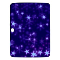 Blurry Stars Blue Samsung Galaxy Tab 3 (10 1 ) P5200 Hardshell Case  by MoreColorsinLife