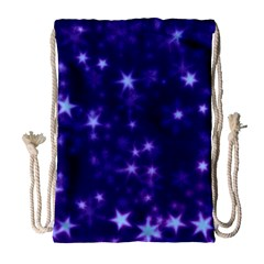 Blurry Stars Blue Drawstring Bag (large) by MoreColorsinLife
