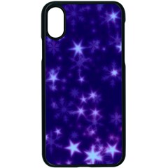 Blurry Stars Blue Apple Iphone X Seamless Case (black) by MoreColorsinLife