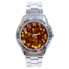 Blurry Stars Golden Stainless Steel Analogue Watch by MoreColorsinLife