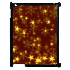 Blurry Stars Golden Apple Ipad 2 Case (black) by MoreColorsinLife