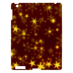 Blurry Stars Golden Apple Ipad 3/4 Hardshell Case by MoreColorsinLife