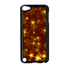 Blurry Stars Golden Apple Ipod Touch 5 Case (black) by MoreColorsinLife
