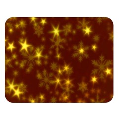 Blurry Stars Golden Double Sided Flano Blanket (large)  by MoreColorsinLife