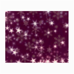 Blurry Stars Plum Small Glasses Cloth by MoreColorsinLife