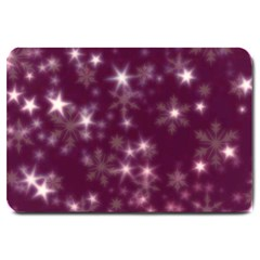 Blurry Stars Plum Large Doormat  by MoreColorsinLife