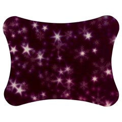 Blurry Stars Plum Jigsaw Puzzle Photo Stand (bow) by MoreColorsinLife