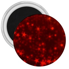 Blurry Stars Red 3  Magnets
