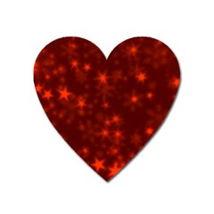 Blurry Stars Red Heart Magnet by MoreColorsinLife